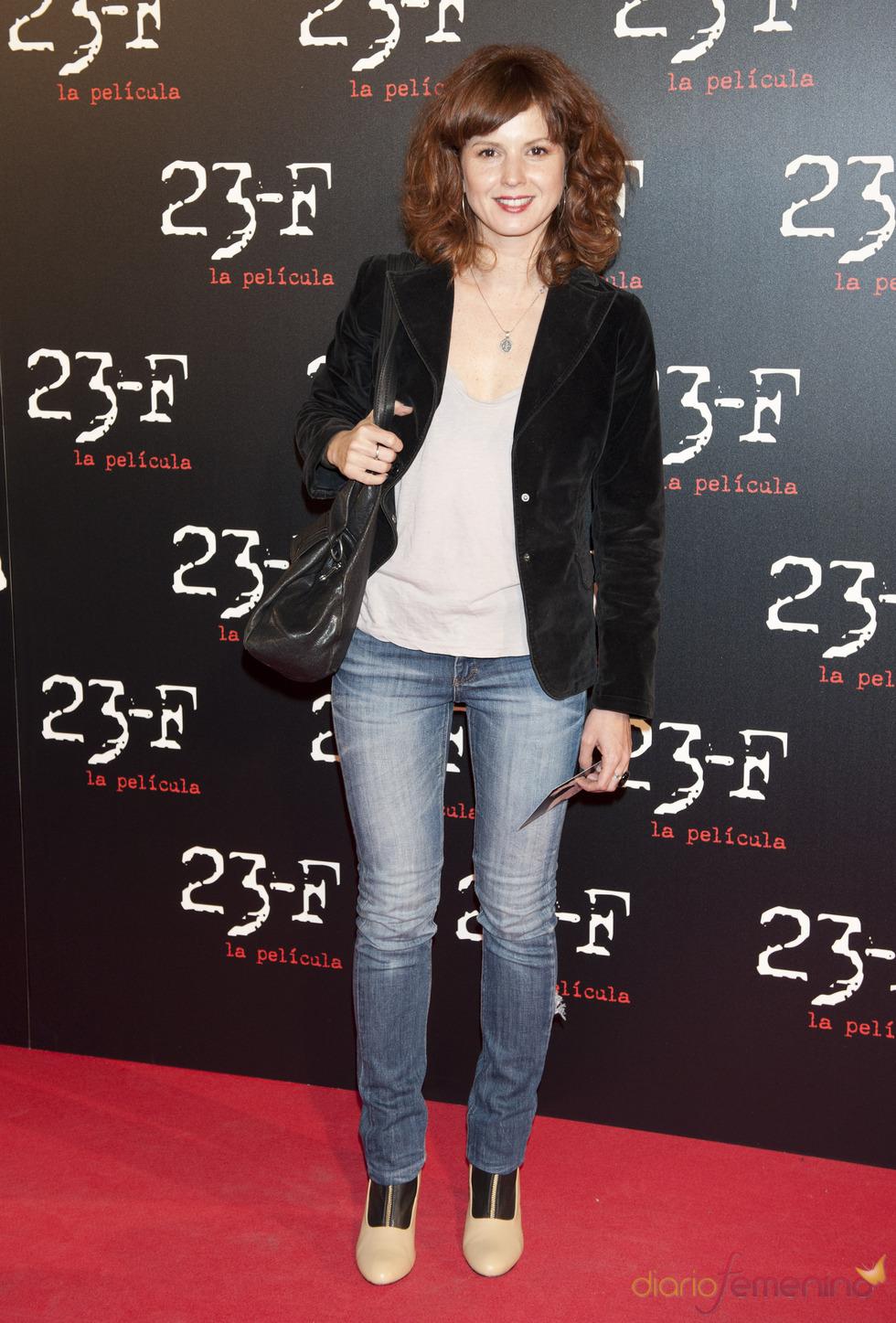 Marián Aguilera en el estreno de 23-F