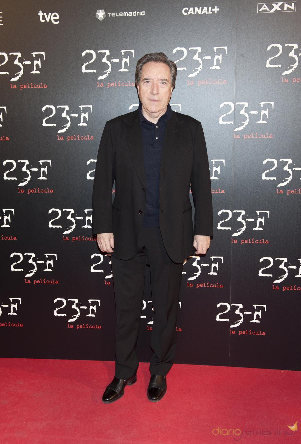 Iñaki Gabilondo en el estreno de 23-F