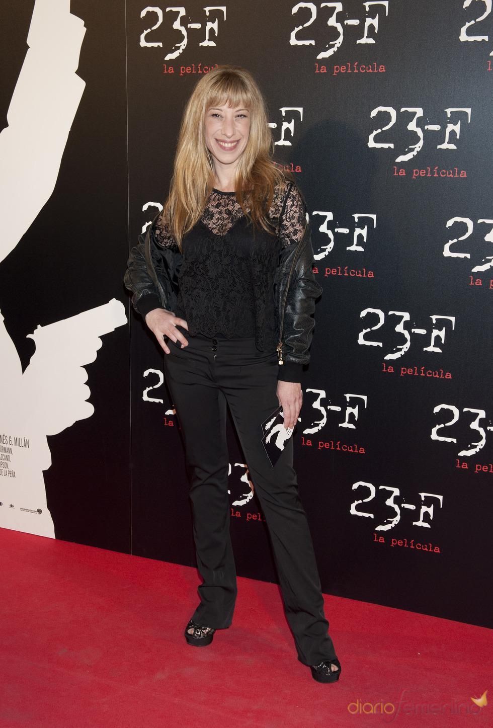 Nathalie Seseña en el estreno de 23-F