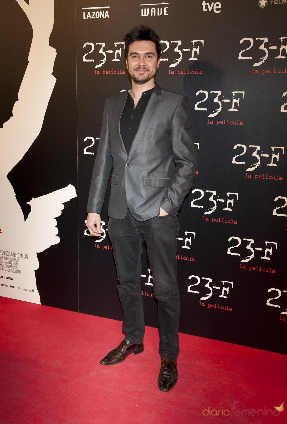 José Manuel Seda en el estreno de 23-F