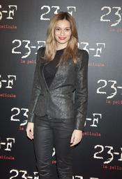 Norma Ruiz en el estreno de 23-F