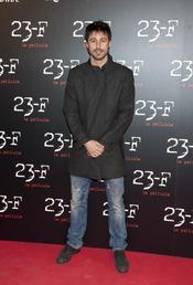 Hugo Silva en el estreno de 23-F