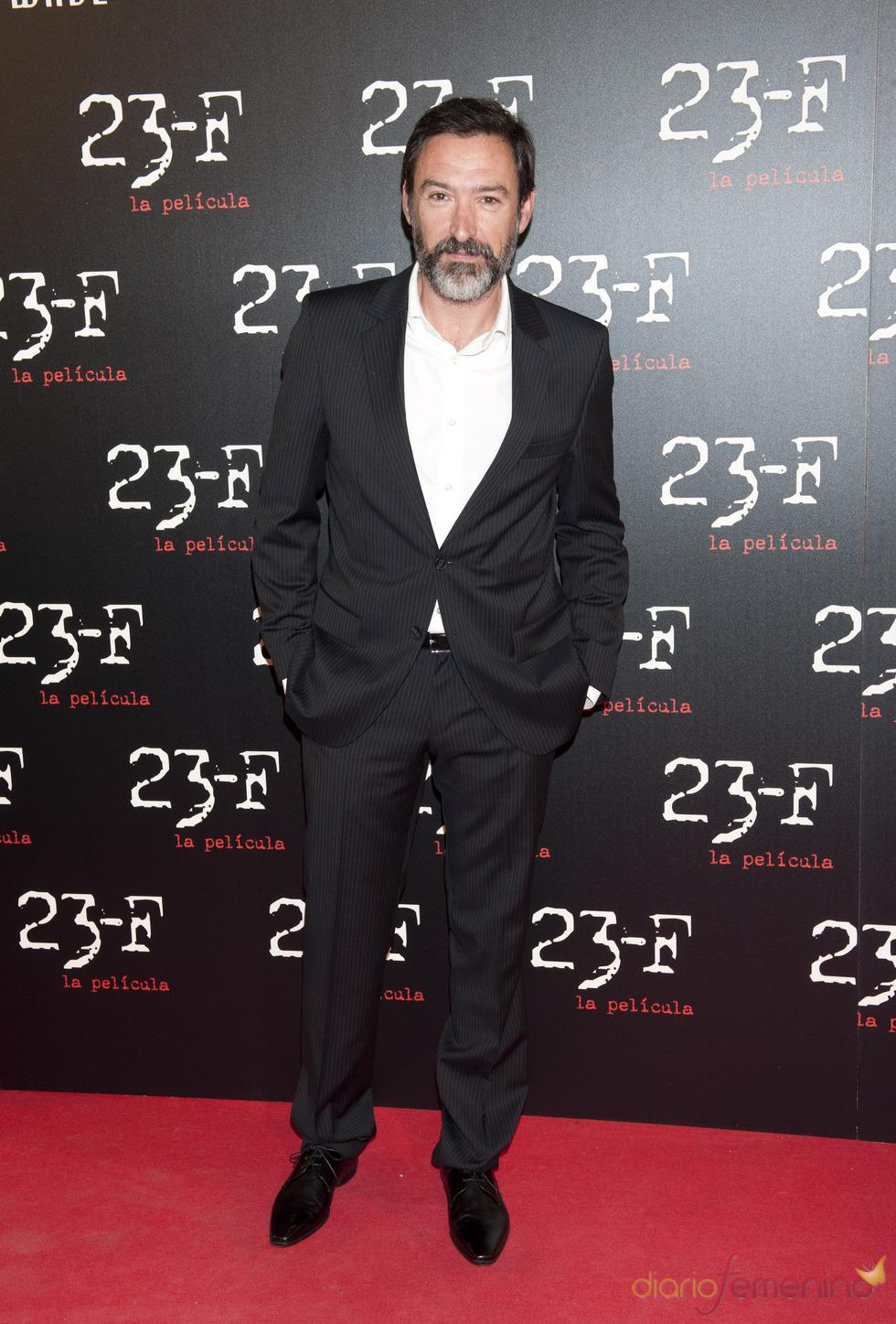 Ginés García Millán en el estreno de 23-F