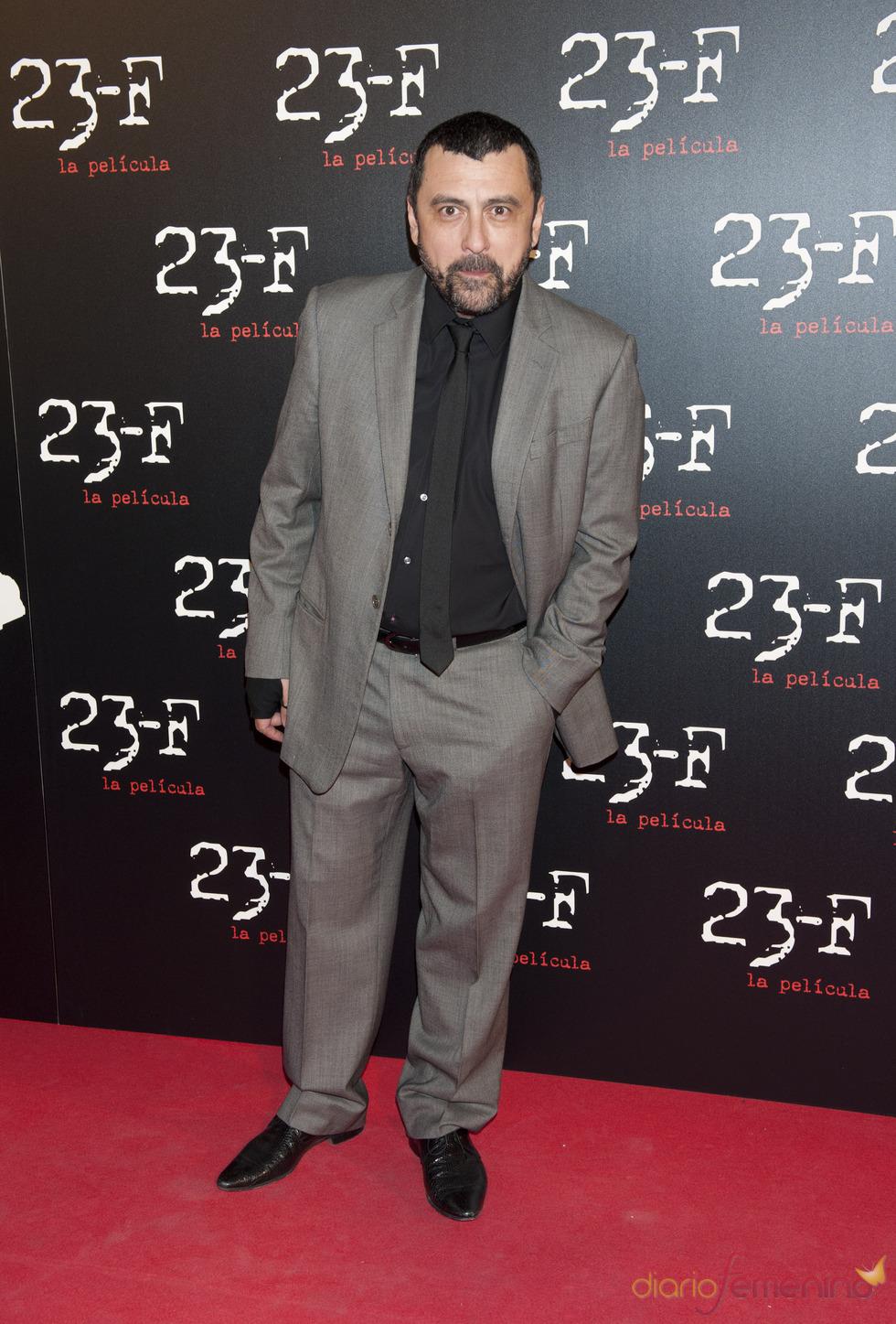 Paco Tous en el estreno de 23-F