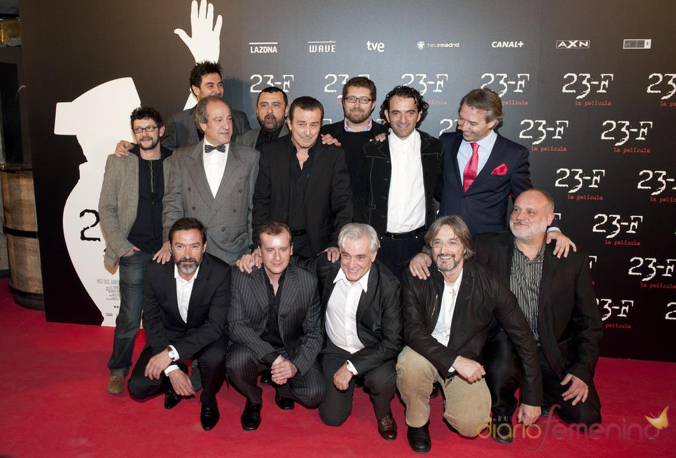 Reparto de la película 23-F