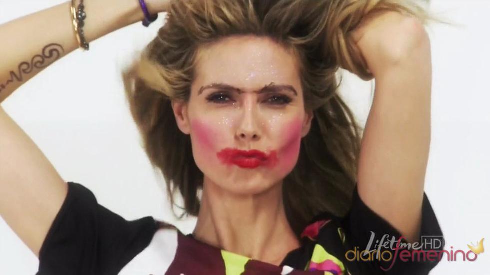 Heidi Klum, maquillada por un niño de siete años