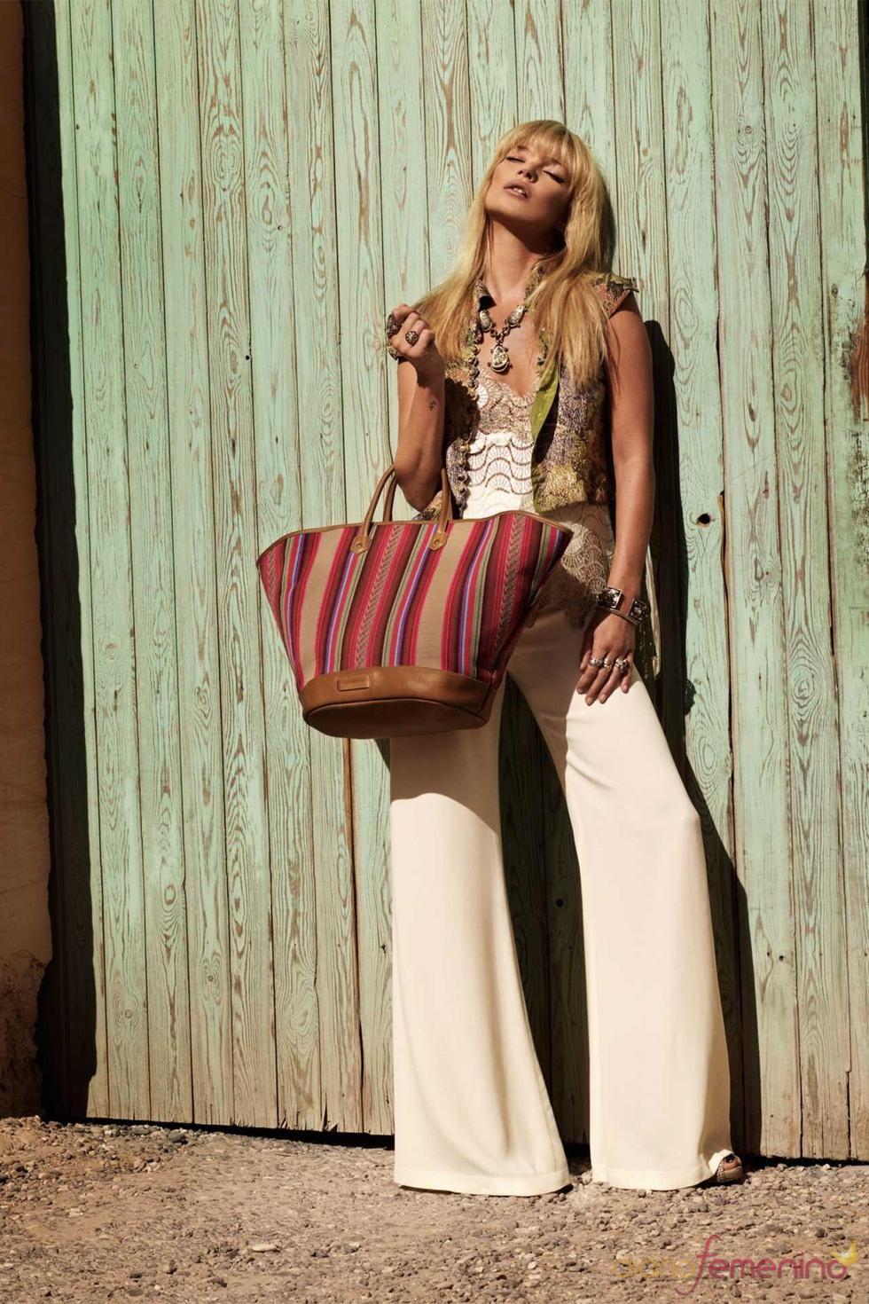 Kate Moss, imagen de la colección de bolsos de Longchamp