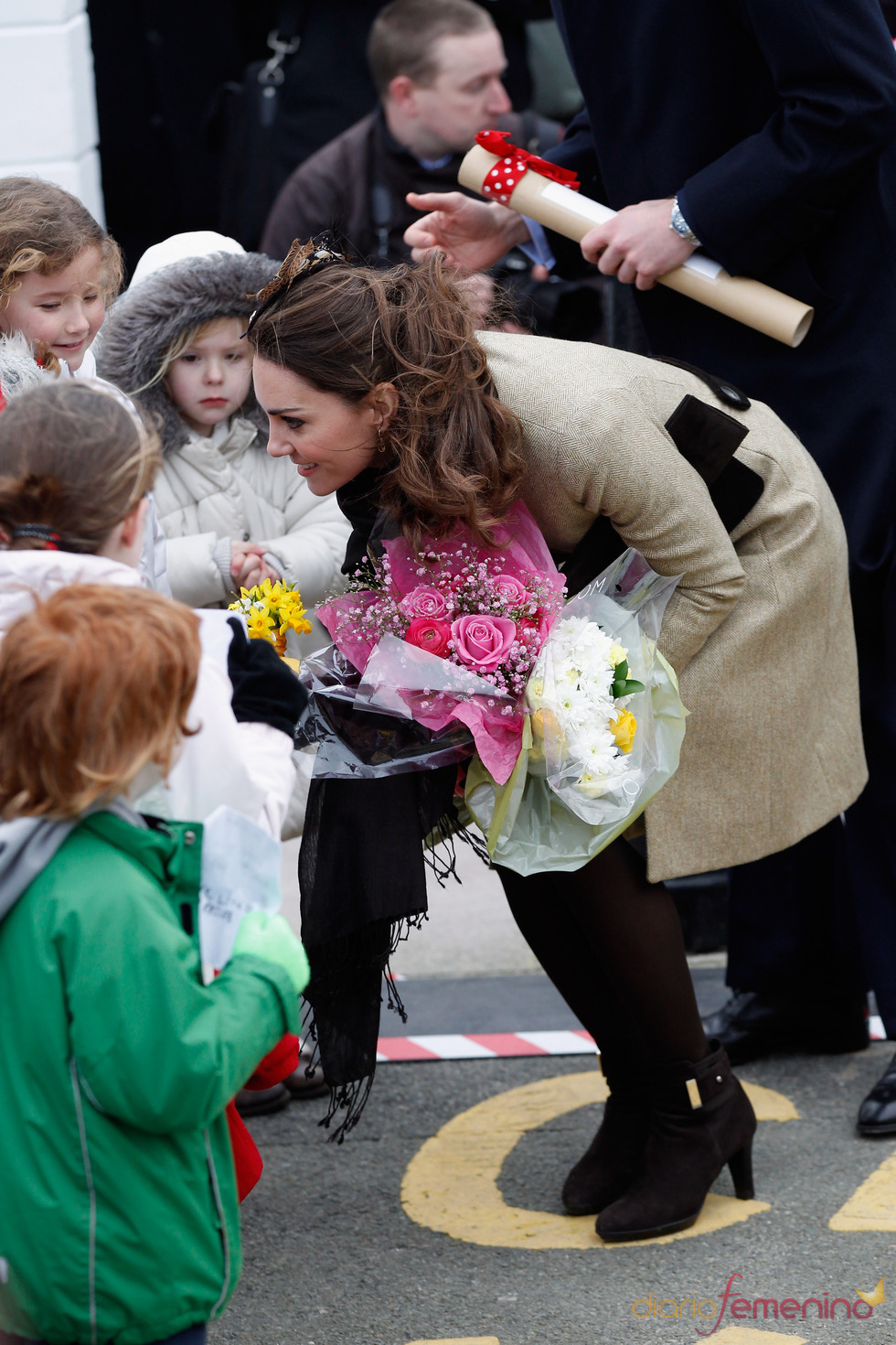 Kate Middleton con los niños de Gales