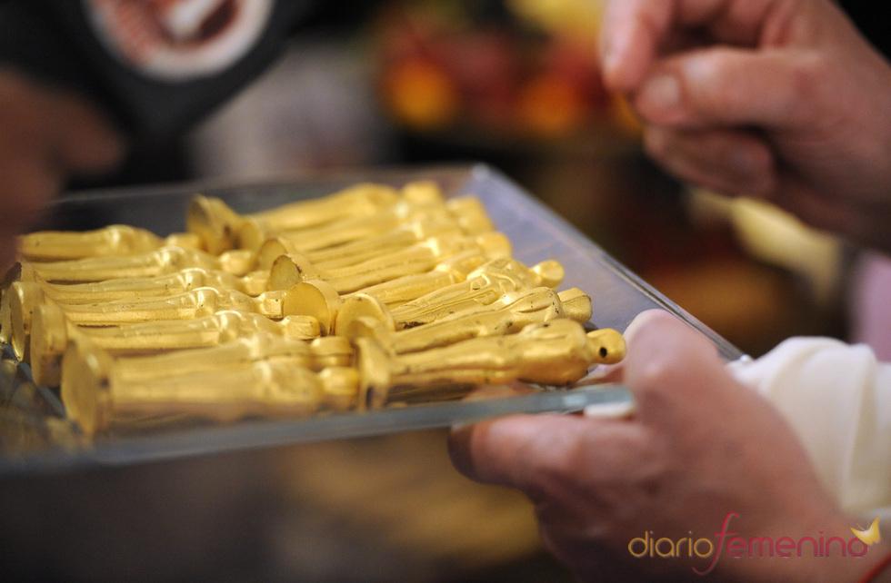 Oscars de chocolate bañados en oro para la cena de los Oscars 2011