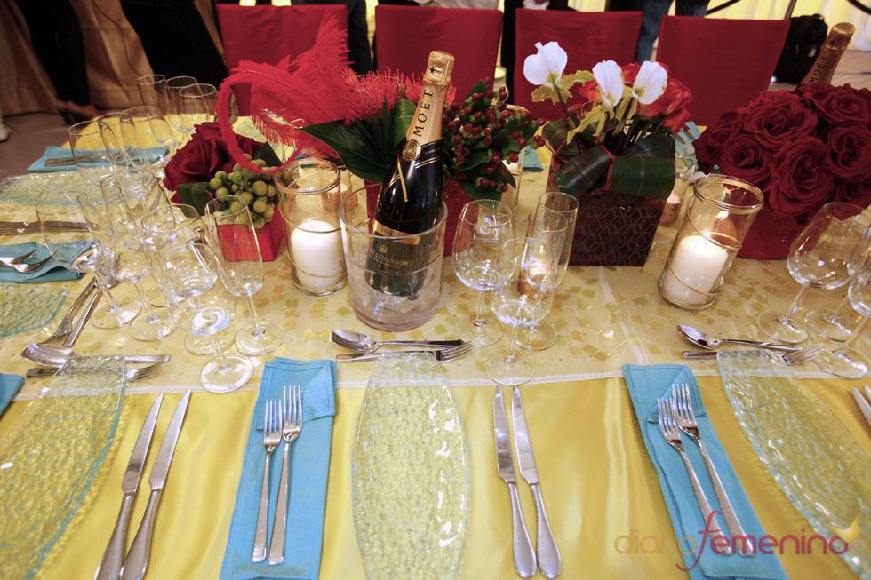 Mesa de la cena de los Oscars 2011