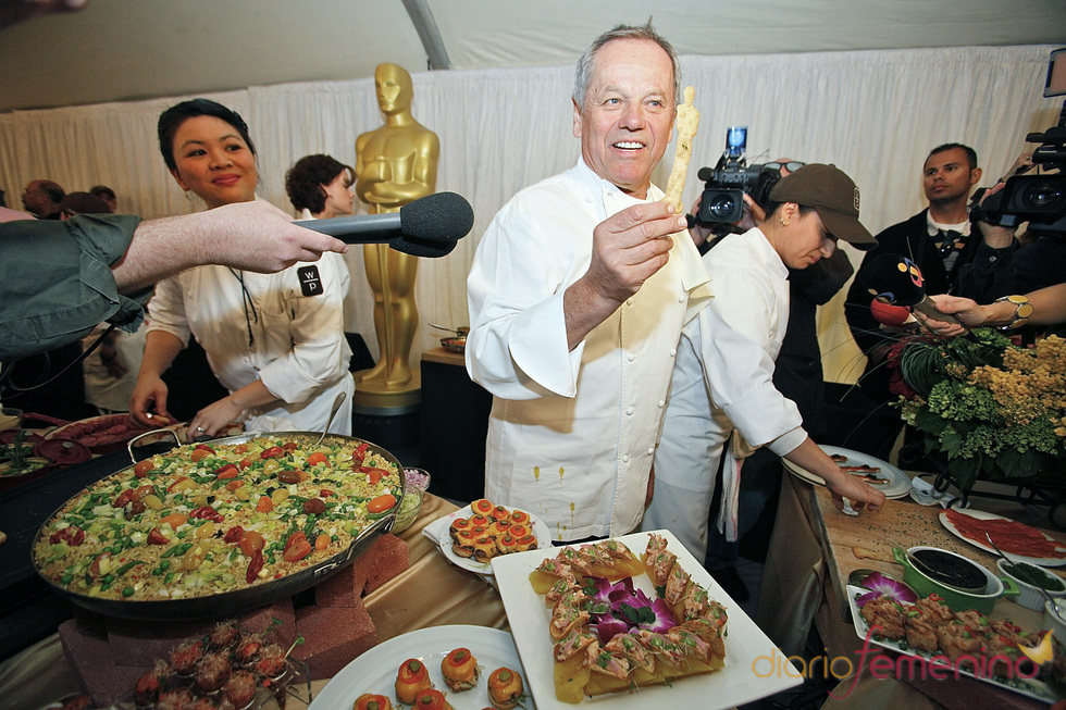 Imagen de varios platos de la cena de los Oscars 2011