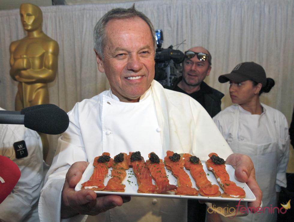 Bandeja de salmones con forma de Oscar para la cena