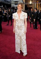 Melissa Leo posa en la alfombra roja de los Oscar 2011