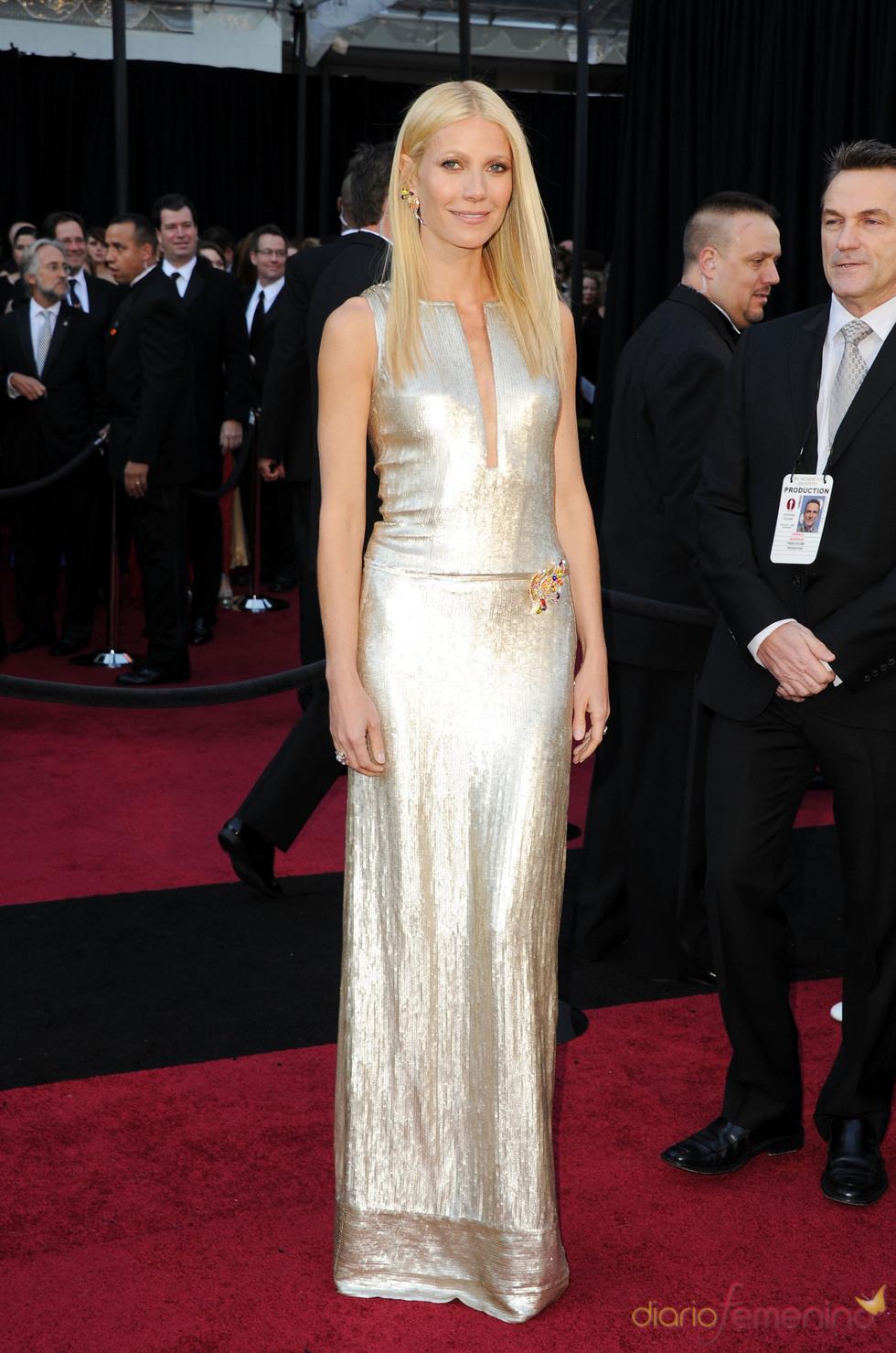 Gwyneth Paltrow en la alfombra roja de los Oscar 2011