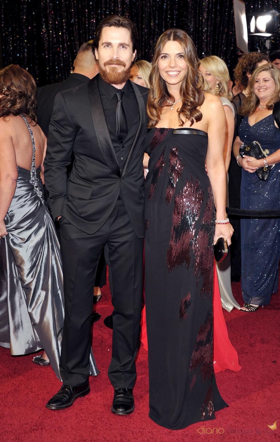 Christian Bale y su mujer Sibi Bale en la alfombra roja de los Oscar 2011