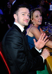 Justin Timberlake en la cena Governor's Ball post Oscars 2011