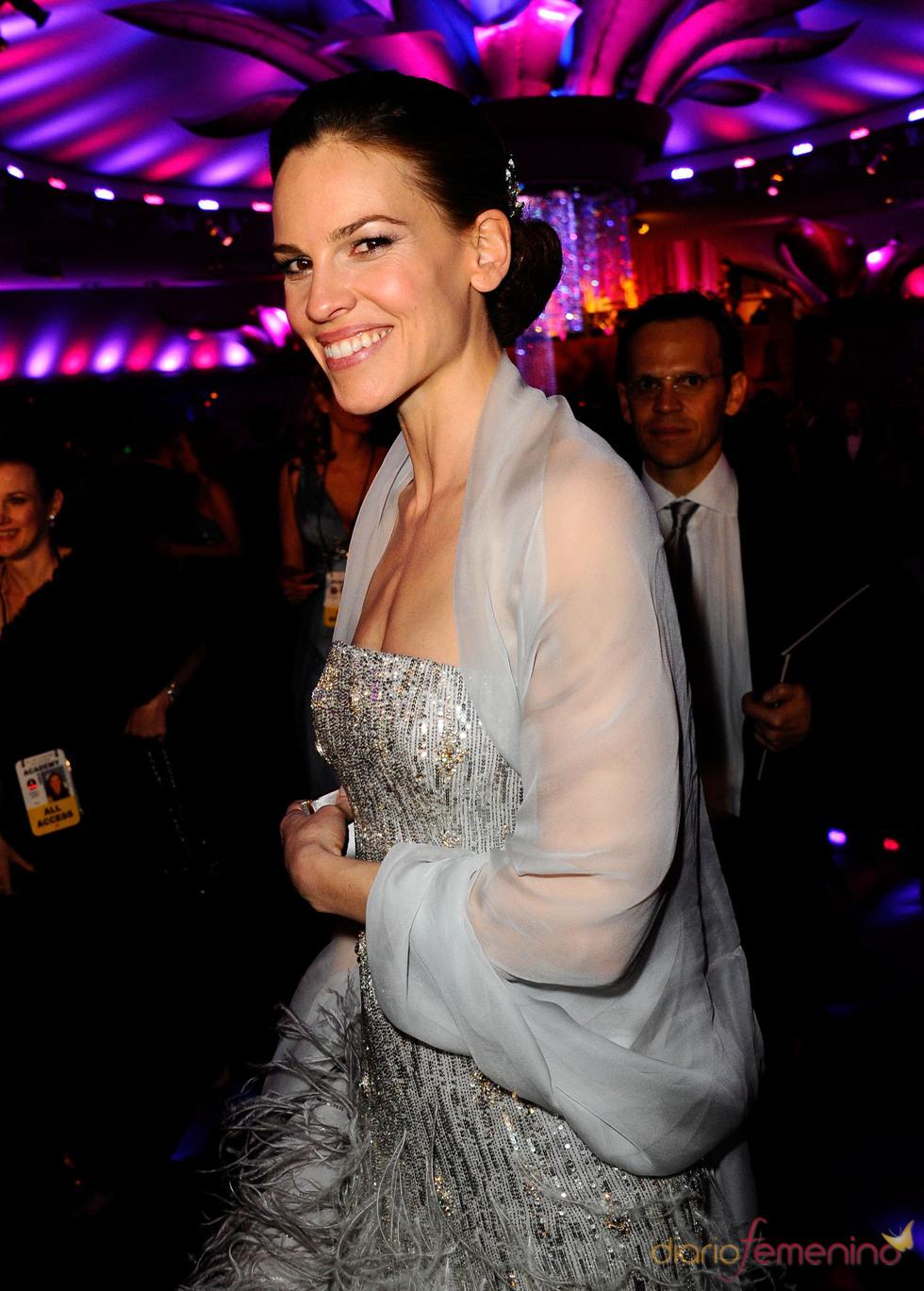 Hillary Swank en la cena Governor's Ball post Oscars 2011