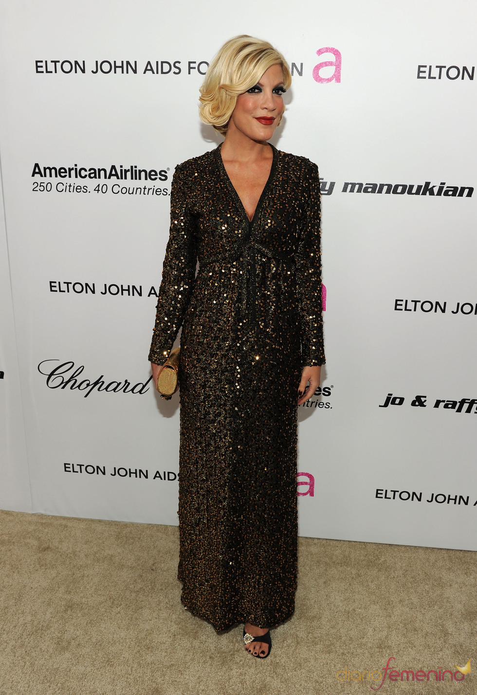Tori Spelling en la Gala de Elton John