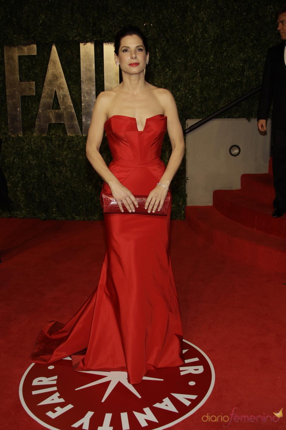 Sandra Bullock en la fiesta Vanity Fair de los Oscar 2011