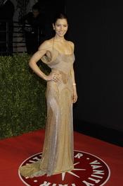 Jessica Biel en la fiesta Vanity de los Oscar 2011