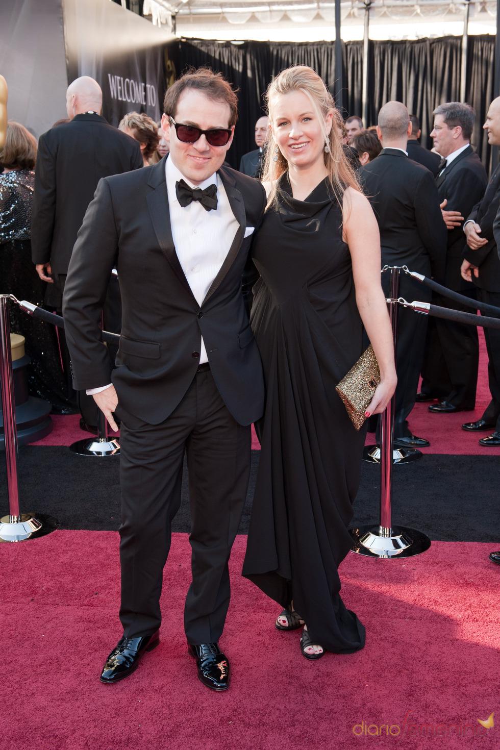 Teddy Newton en la alfombra roja de los Oscars 2011