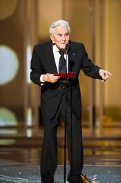 Kirk Douglas en la ceremonia de las Oscars 2011