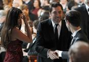 Javier Bardem conoce al prometido de Natalie Portman en la cena de los Oscars 2011