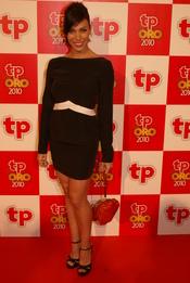 Nerea Garmendia en la alfombra roja de los premios TP de Oro 2010