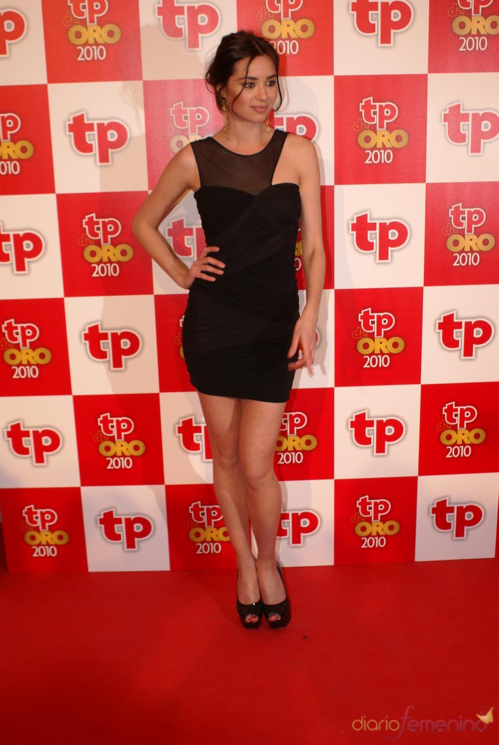 Dafne Fernández en los Premios TP de Oro 2010