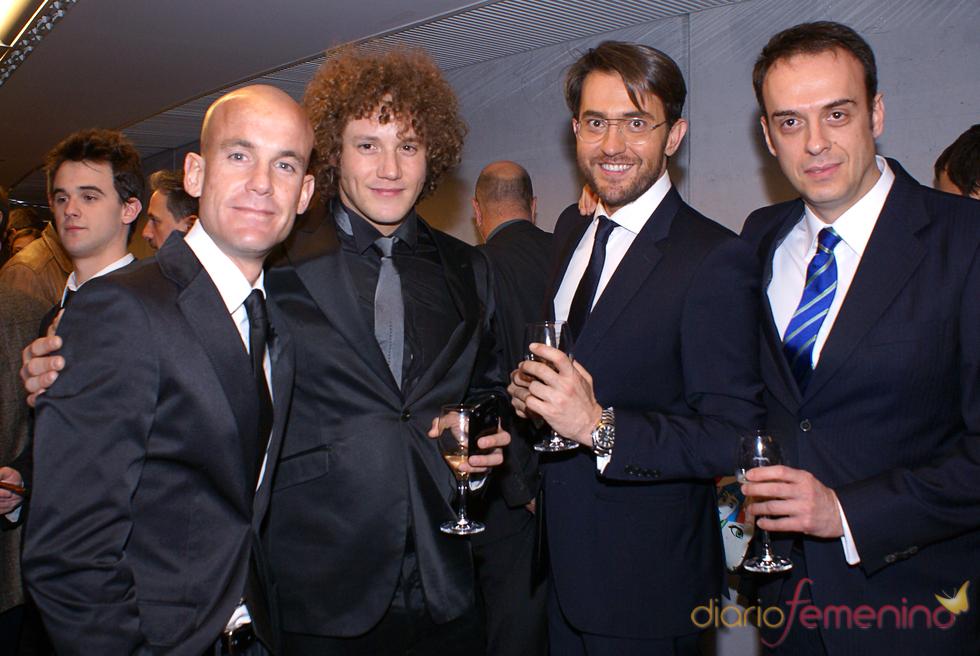 Ramón Fuentes, Daniel Diges y Maxim Huerta en el cóctel de los Premios TP