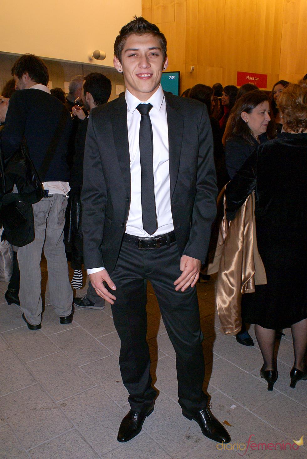 Nahuel de OT en el cóctel de los Premios TP de Oro 2010