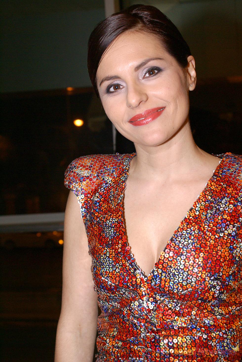 Eva Perales en el cóctel de los Premios TP de Oro 2010
