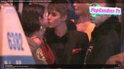 El beso de Justin Bieber y Selena Gómez