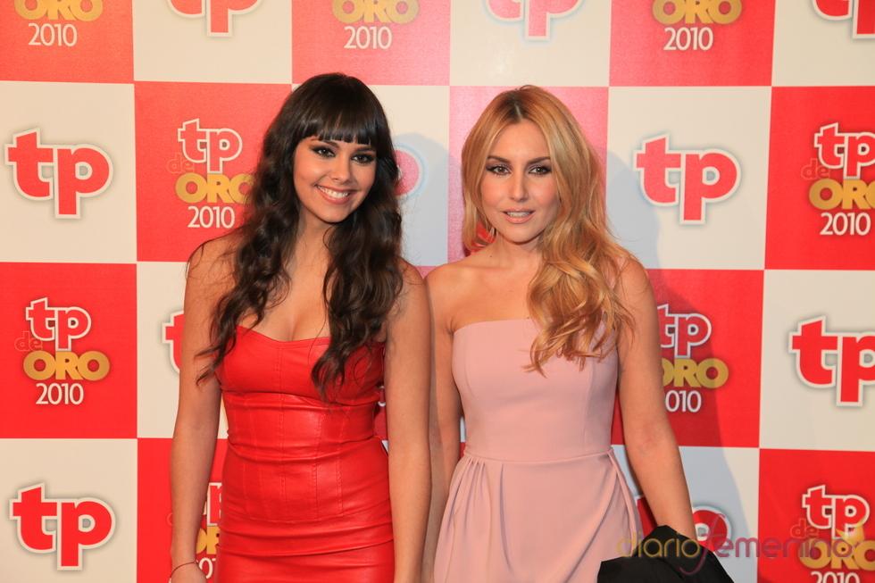 Berta Collado y Cristina Pedroche, de 'Sé lo que hicisteis...', en los TP de Oro 2010