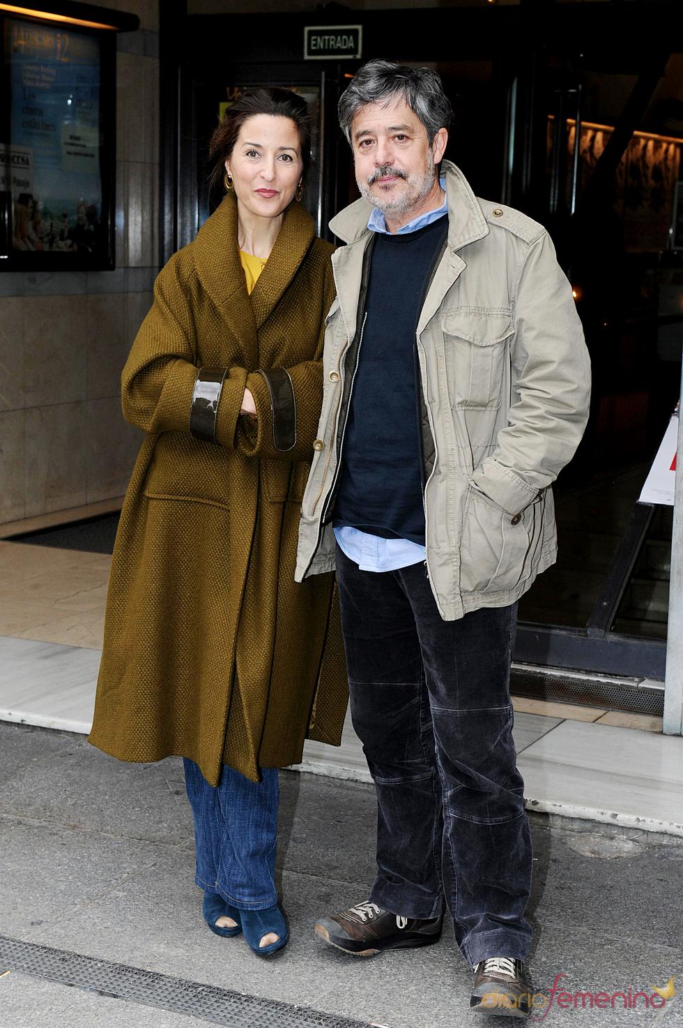 Carlos Iglesias y Esther Regina en la presentación de 'Ispansi', en Madrid