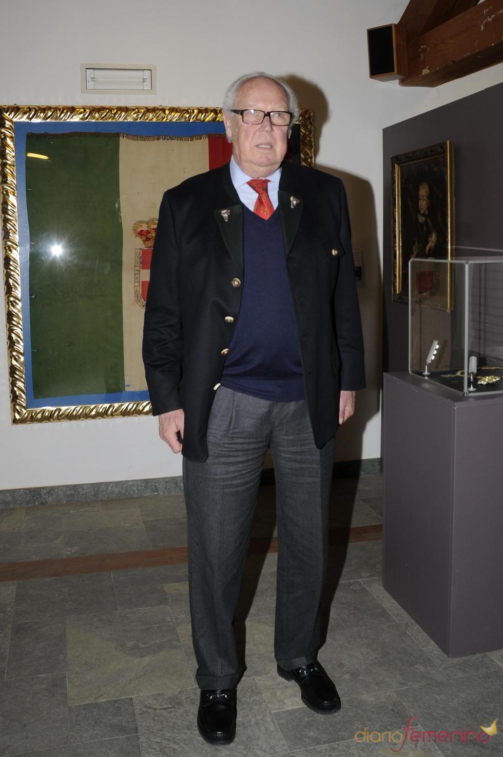 El príncipe Víctor Manuel de Saboya