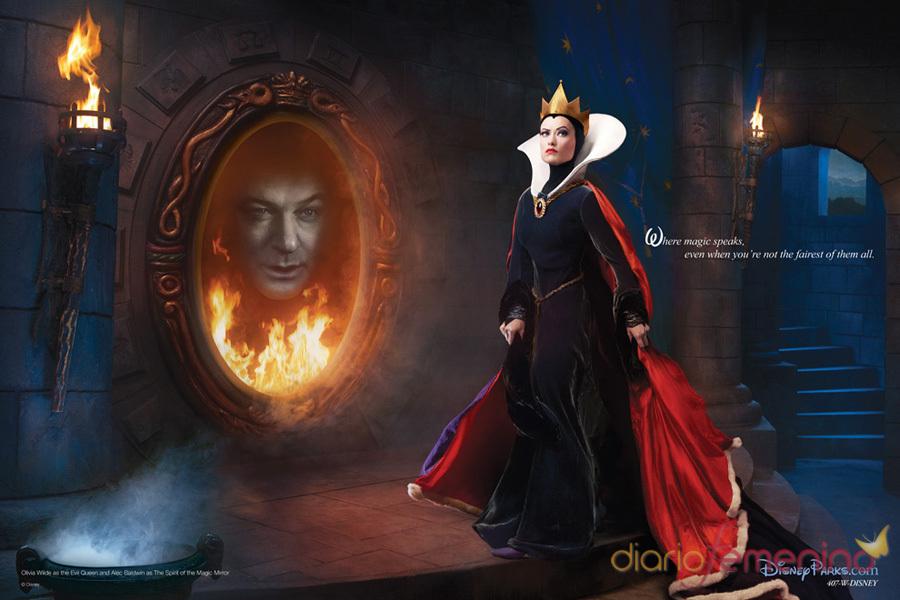 Alec Baldwin y Olivia Wilde son el 'Espejo mágico' y la madrastra de 'Blancanieves'
