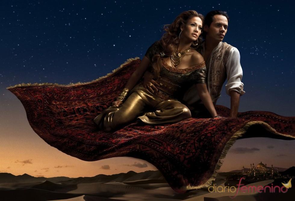 Jennifer Lopez y Marc Anthony son Jasmine y Aladdín