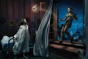 Gisele Bundchen, Mijail Baryshnikov y Tina Fey escenifican 'Peter pan'