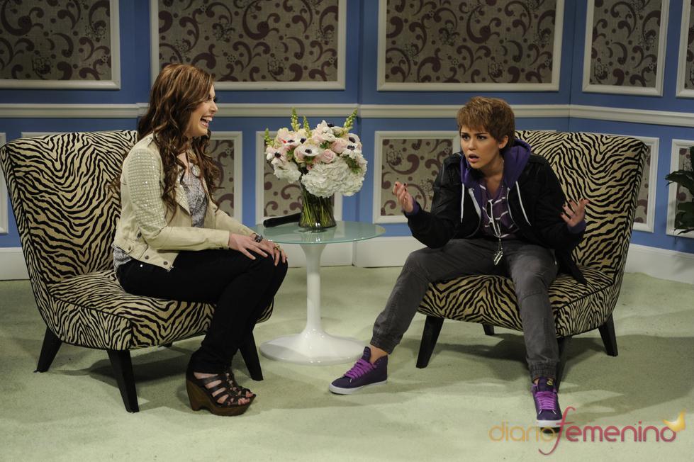 Miley Cyrus parodia a Justin Bieber