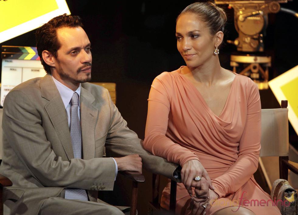 Jennifer Lopez y Marc Anthony, como dos tortolitos