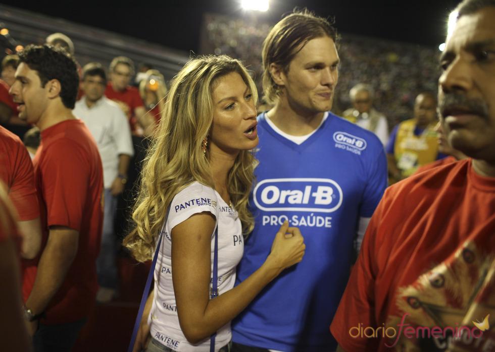 Giselle Bundchen y Tom Brady en los Carnavales de Río de Janeiro
