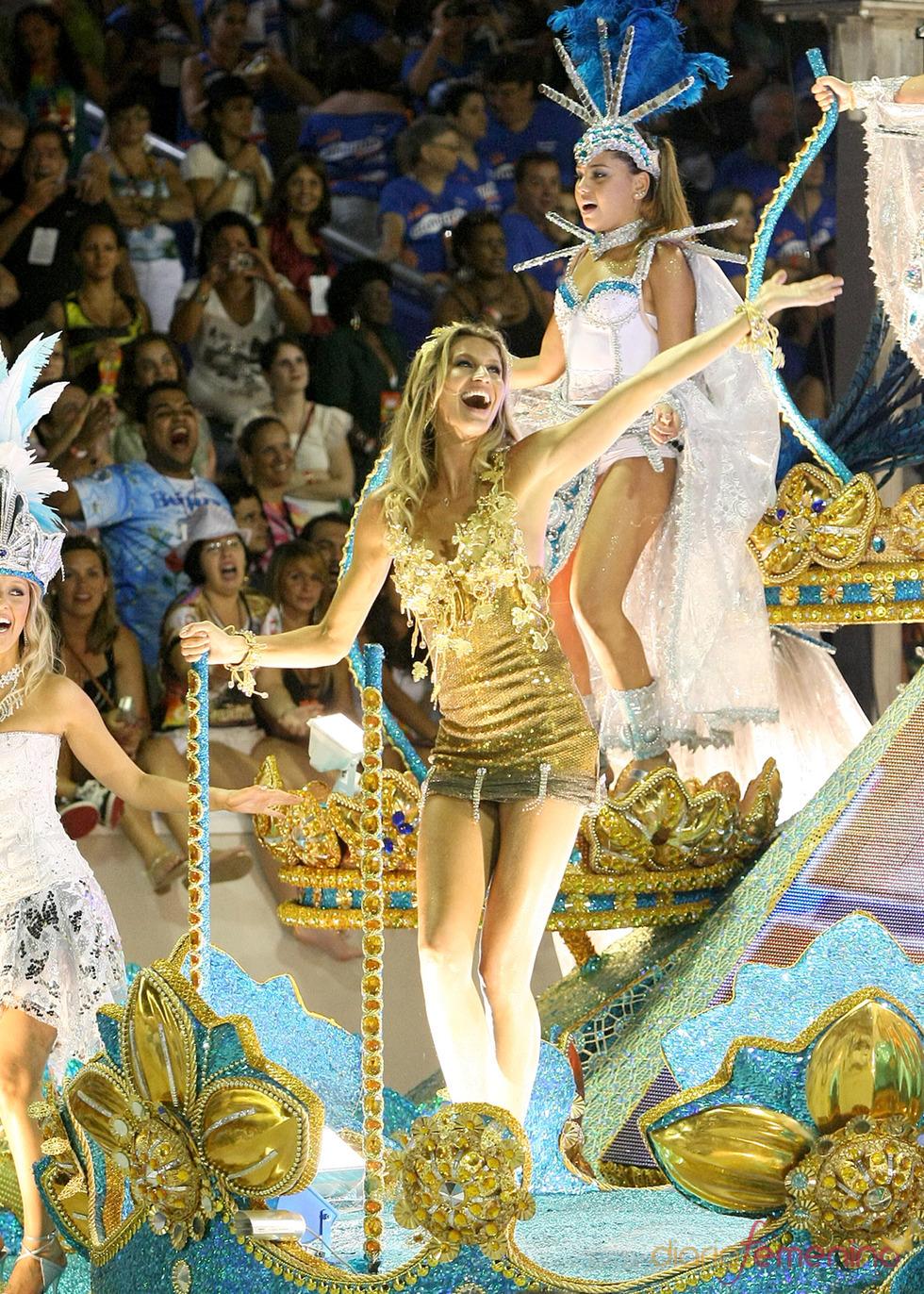 Giselle Bundchen en el Sambódromo de Río de Janeiro