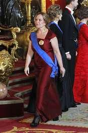 Trinidad Jiménez en la cena de gala en honor al Presidente de Chile