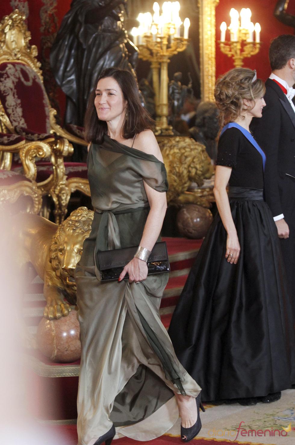 Ángeles González-Sinde en la cena de gala en honor del Presidente de Chile