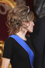 El semirecogido de la Princesa Letizia