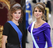 Rania de Jordania y la Princesa Letizia vestidas de gala