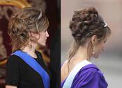 El pelo semirecogido de Rania de Jordania y la Princesa Letizia
