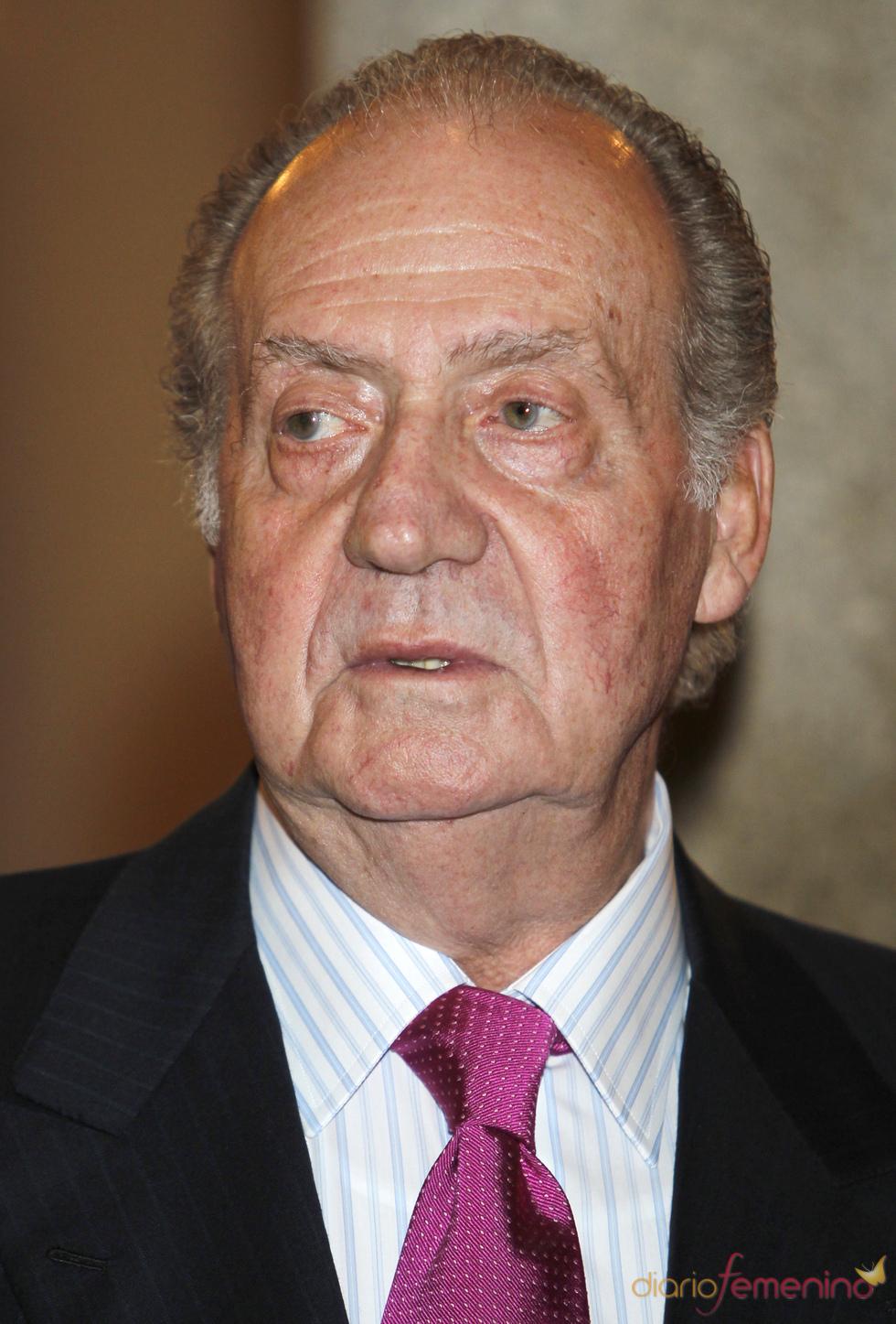 El Rey en la recepción en El Pardo que le ofreció el presidente de Chile