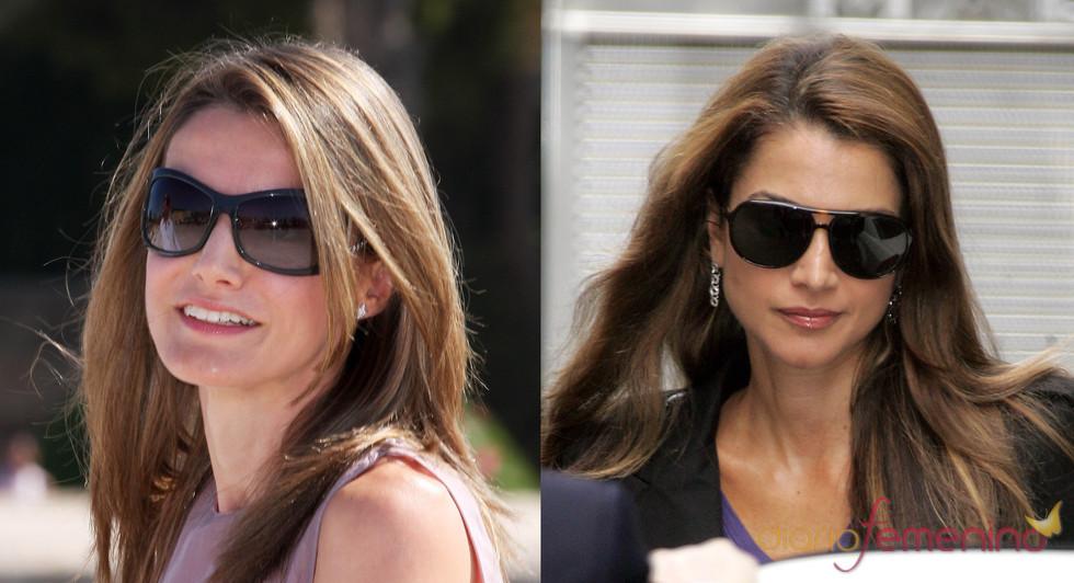 Rania de Jordania y la Princesa Letizia con gafas de sol